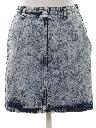 Womens Totally 80s Acid Wash Denim Skirt