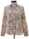 Womens Print Hippie Shirt