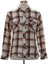 Mens Plaid Sport Shirt