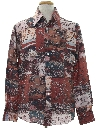 Mens Playboy Photo Print Disco Shirt