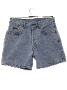 Womens Designer Totally 80s Stone Washed Denim Jeans Shorts