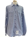 Mens Navy Military Chambray Work Shirt
