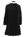 Womens Mod A-Line Wool Dress