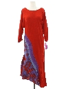 Womens Designer Asymmetrical A-Line Maxi Dress