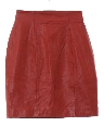 Womens Totally 80s Leather Mini Skirt
