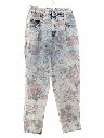 Womens Totally 80s Acid Wash Print Jeans Pants
