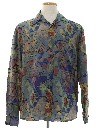 Mens Graphic Print Totally 80s Sport Shirt