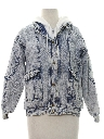 Womens Totally 80s Acid Washed Jeans Style Jacket