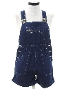 Womens Totally 80s Bib Overalls Shorts