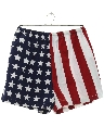 Mens Totally 80s Flag Shorts