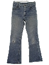 Mens Distressed Levis Bellbottom Denim Jeans Pants