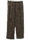 Mens Totally 80s Pleated Baggy Plaid Slacks Pants