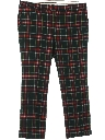 Mens Plaid Golf Style Slacks Pants