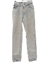 Womens Acid Washed Levis 501 Tapered Leg Denim Jeans Pants