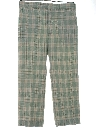 Mens Plaid Golf Style Disco Pants