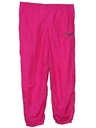 Womens Totally 80s Style Neon Baggy Track Pants