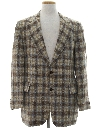 Mens Mod Plaid Blazer Sport Coat Jacket