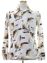 Mens Abstract Geometric Print Disco Shirt