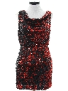 Womens Sequined Prom Or Cocktail Mini Dress