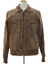 Mens Suede Leather Sweater Jacket