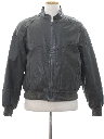 Mens Totally 80s Cafe Racer Style Leather Racing Jacket