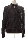 Mens Leather Members Only Style Cafe Racer Jacket