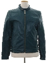 Mens Mod Cafe Racer Style Leather Jacket