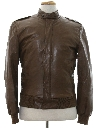 Mens Totally 80s Cafe Racer Leather Jacket