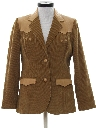 Womens Western Corduroy Leather Blazer Sport Coat Jacket
