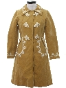 Womens Mod Faux Suede Ultrasuede Car Coat Jacket
