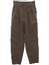 Mens Totally 80s Baggy Pleated Bugle Boy Slacks Pants