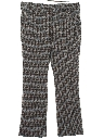 Mens Plaid Flared Leisure Style Disco Pants