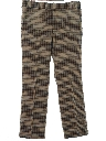 Mens Plaid Flared Disco Pants