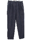 Mens Totally 80s Baggy Pleated JEANS Pants
