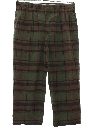 Mens Totally 80s Preppy Plaid Plaid Golf Style Slacks Pants