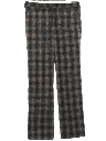 Mens Plaid Wool Slacks Pants