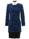 Womens Totally 80s Knit Wiggle Dress