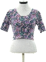 Womens Totally 80s Floral T-Shirt