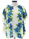 Womens Hawaiian Hippie Style Butterfly Shirt