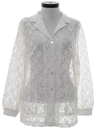Womens Lace Shirt Jacket