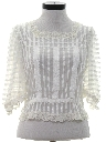 Womens Totally 80s Ruffled and Lace Shirt