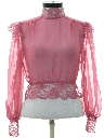Womens Totally 80s Lace Shirt