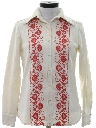 Womens Embroidered Hippie Leisure Shirt