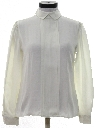 Womens Totally 80s Pleated Front Secretary Shirt