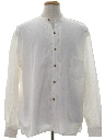 Mens 1800s Reproduction Pioneer or Poet Style Western Shirt