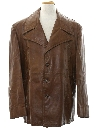 Mens Leather Car Coat Jacket
