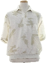 Mens Totally 80s Print Resort Wear Shirt