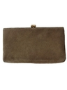 Womens Accessories - Suede Leather Clutch Purse