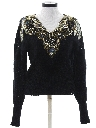 Womens Totally 80s Beaded Cocktail Sweater