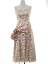 Womens Totally 80s Pretty In Pink Style Prom Or Cocktail Dress